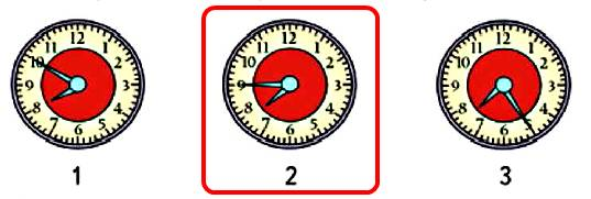 Какие из этих часов показывают правильное время, если сейчас без 15 минут 8 часов?