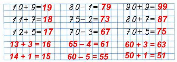Вычисли. Определи, по какому правилу составлены примеры в каждом столбике. По найденному правилу запиши ещё по два примера в каждом столбике и выполни вычисления.