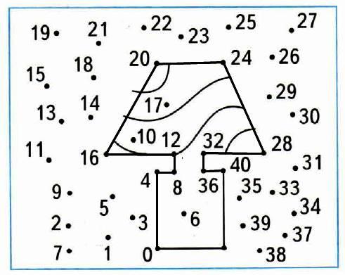 Соедини отрезками числа в порядке их увеличения, начиная с 0 и прибавляя по 4.
