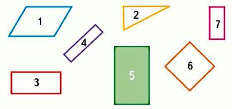 Какая фигура лишняя? Найди разные решения.