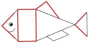 Рассмотри рисунок. Обведи красным карандашом стороны всех прямых углов.