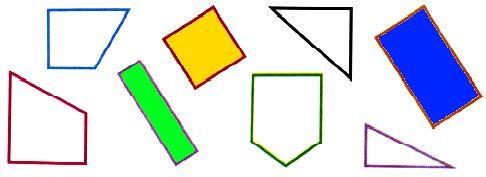 Раскрась все прямоугольники.