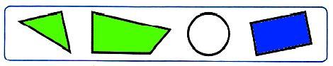 Закрась геометрические фигуры так, чтобы все высказывания стали верными для данного рисунка