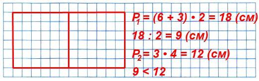 Начерти прямоугольник со сторонами 6 см и 3 см и вычисли его периметр. Проведи в прямоугольнике один отрезок так, чтобы он разделил прямоугольник на два равных квадрата.
