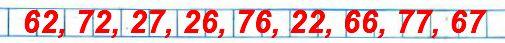 Используя цифры 6, 7, 2, запиши все возможные двузначные числа.