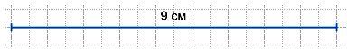 Найди длину ломаной и начерти отрезок такой же длины.