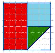 Начерти квадрат со стороной 4 см. Раздели его на 2 равных прямоугольника и закрась один из них красным цветом.