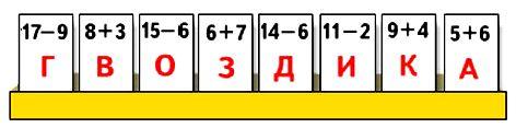 """""""Расшифруй"""".Чтобы узнать, какие цветы взяли для букета, поменяй местами карточки, на которых записаны выражения с равными значениями. Запиши буквы в полученном порядке."""