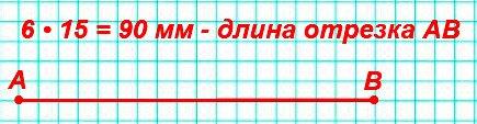 Длина одной шестой части отрезка AB равна 15 мм. Начерти этот отрезок.