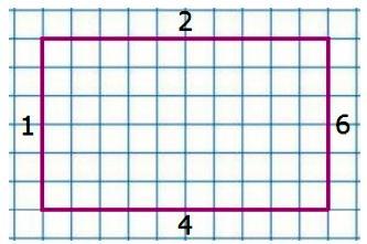 Запиши номера тех четырёх отрезков, из которых можно составить прямоугольник, и начерти его в тетради