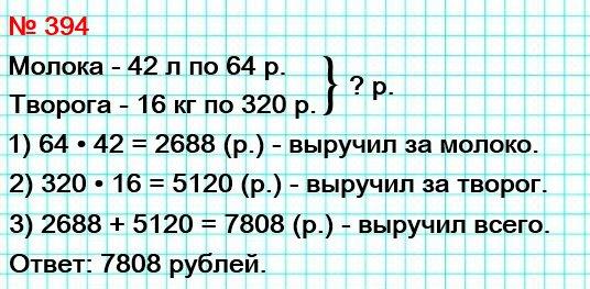 Кот Матроскин продал 42 л молока по 64 р. за 1 литр и 16 кг творога по 320 р. за 1 килограмм. Сколько денег выручил Матроскин за свой товар