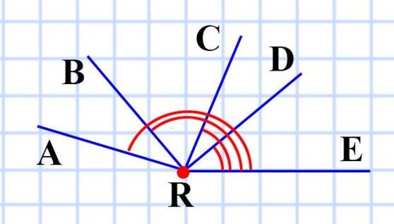 Проведите луч. Отложите от этого луча угол, градусная мера которого равна: 1) 40; 2) 130; 3) 68; 4) 164