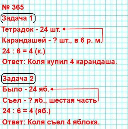 Составь разные задачи по выражению24:6