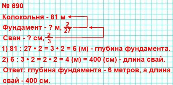 690. Колокольня Ивана Великого на территории Московского Кремля стоит на небольшом фундаменте, сложенном из глыб белого камня в виде пирамиды, расширяющейся в глубину. Каменный фундамент колокольни для прочности опирается на свайное основание